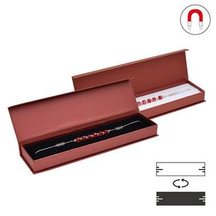 Dárková krabička na náramek červená, magnetické zavírání