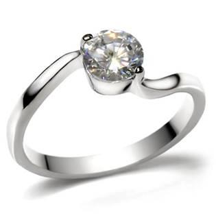Ocelový prsten se zirkonem
