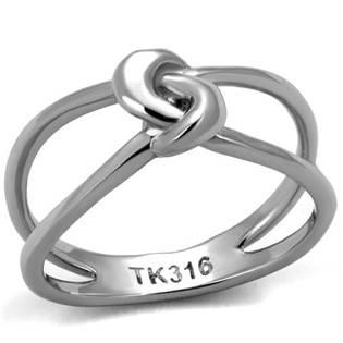 Ocelový prsten s uzlem