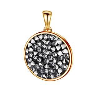 Zlacený přívěšek Crystals from Swarovski® 15mm, CRYSTAL CAL