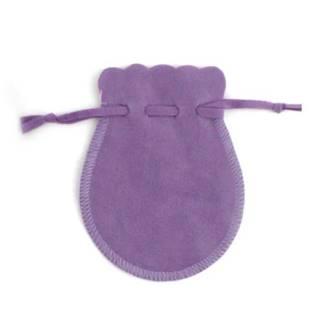 Semišový dárkový sáček fialový, 9 x 12 cm