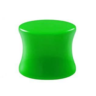 Akrylátový plug do ucha zelený