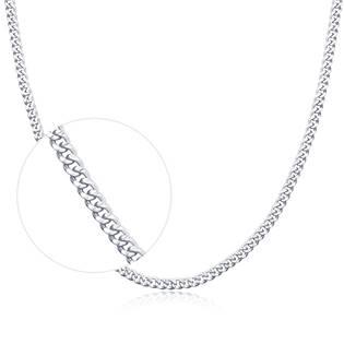 """Stříbrný řetízek """"pancer"""", tl. 1,1 mm, délka 45+5 cm"""