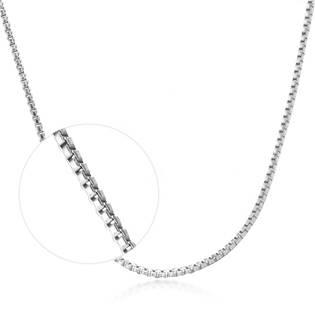 Stříbrný řetízek čtvercový, tl. 0,8 mm, délka 45 cm