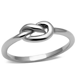 Ocelový prsten - uzel