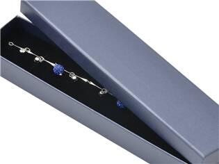 Dárková krabička na náramek - perleťově modrá