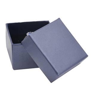 Dárková krabička na prsten nebo náušnice modrá