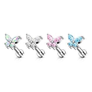 Labreta /  helix / tragus piercing -  motýlek