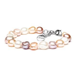 Perlový náramek z pravých říčních perel, délka 19,5 cm