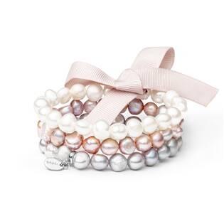 Perlový náramek z pravých říčních perel