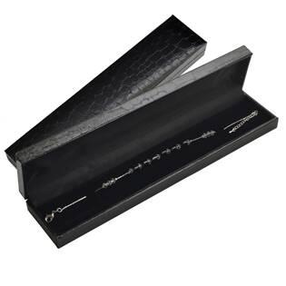 Černá koženková krabička na náramek