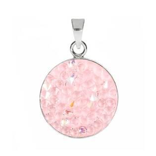 Přívěšek Crystals from Swarovski® 15mm, LIGHT ROSE AB