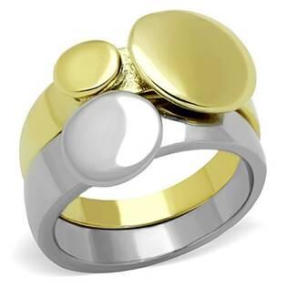 Dvojitý zlacený/lesklý ocelový prsten