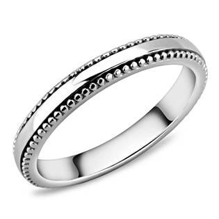 Ocelový prsten šíře 3 mm