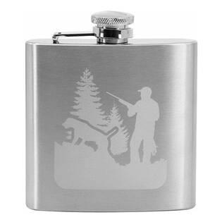 Ocelová kapesní lahev - placatka myslivec 180 ml v dárkovém balení