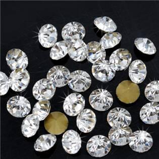 Skleněný šaton SS14 - 3,4 mm, 10ks/bal., Crystal