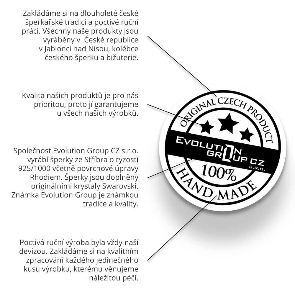 2d7742fca Stříbrné náušnice s krystaly Swarovski ab efekt srdce | Stříbro4U.cz