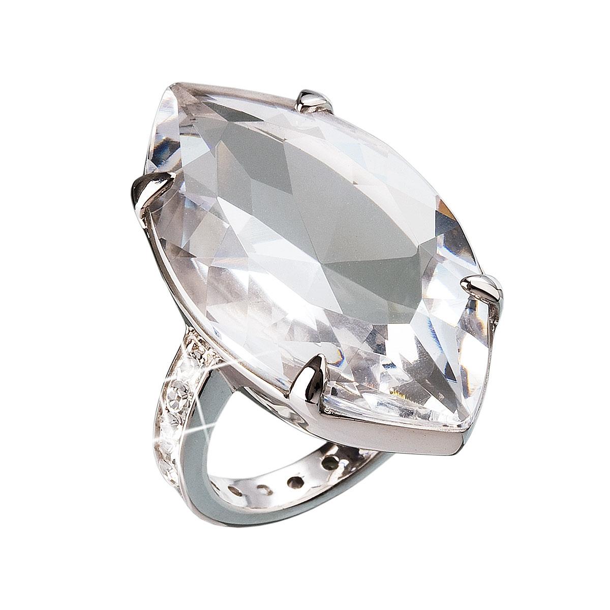 Stříbrný prsten s kamenem Crystals from Swarovski® Crystal ... 967ea3237f3
